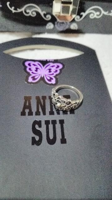 アナスイ 燻しシルバー パールリング ANNA SUI 指輪 < ブランドの