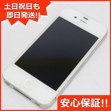 ●安心保証●判定○●美品●iPhone4 32GB ホワイト●白ロム