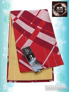 【和の志】RKブランド◇浴衣用小袋帯◇朱赤系◇YKB-110