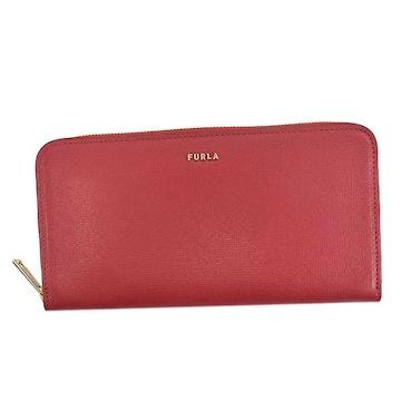 ◆新品本物◆フルラ BABYLON XL ラウンドファスナー長財布(RUBY)PCX7UNO◆
