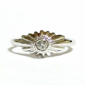 9号 クリスタル シルバー 指輪