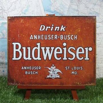 新品【ブリキ看板】Budweiser/バドワイザー Anheuser-Busch