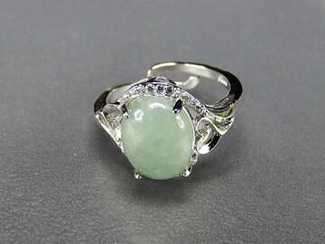 ひすいジェダイト指輪リングAAA天然石一点物12号石街U0304