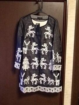 シルクコットンコード刺繍薄手コート