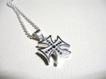 仁尾彫金『ギャラクシープラチナアイアンクロスBダイヤヘッド』
