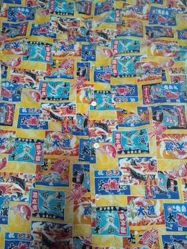 ☆処分品新柄黄色×大漁旗柄ダボシャツL