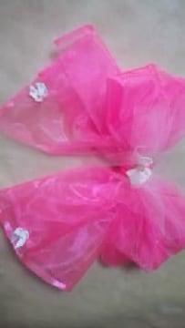 20・20 送込〓新品〓浴衣〓飾り 可愛いピンクにパール付リボン