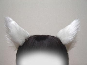 コスプレ小物★猫耳&尻尾セット★白★Lamento・ラメント