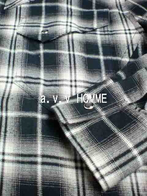 □a.v.v HOMME/アーヴェヴェ メンズ アメカジ シャツ☆新品 < ブランドの