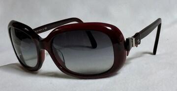 正規美レア シャネルCHANEL リボン×ココマーク装飾サングラス赤系×黒 兼用 眼鏡