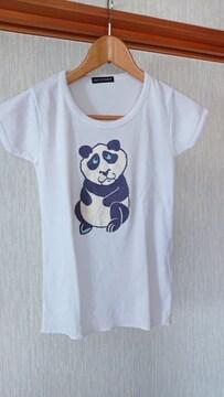新品 パンダ プリント Tシャツ M