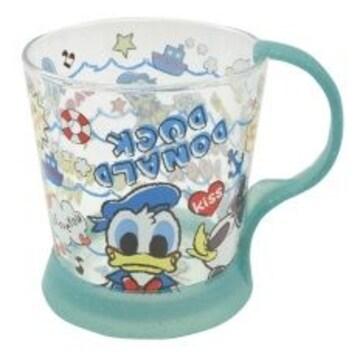ディズニー【ドナルド&デイジー】取っ手が外れる♪ガラス製マグカップ