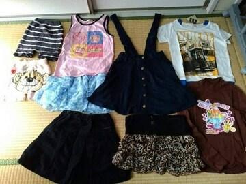 女の子130�p9点福袋コムサプリーツスカート