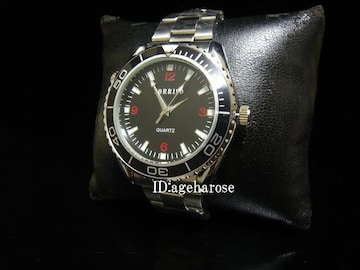新品 腕時計 シルバー ブラック/シーマスター好きに