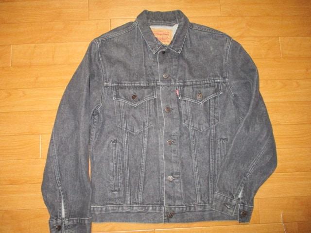 カナダ製 リーバイス ブラック デニムジャケット USA−M  < ブランドの