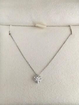 ヴァンドーム青山 ダイヤモンド ネックレス K18WG 0.10ct