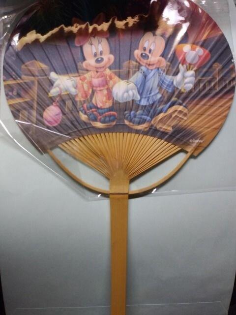 SUBARU スバル オリジナル ミッキー ミニー うちわ 非売品  < アニメ/コミック/キャラクターの