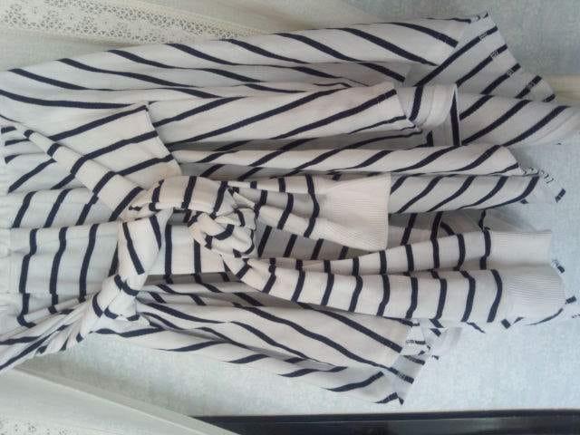 シャツ巻き風ボーダースカート < 女性ファッションの