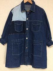 ★新品★大きいサイズ★デニムロングジャケット★コート