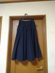 紺色フレアースカート 新品同様商品