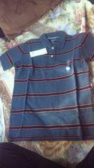 ユニクロ ウォッシュカノコ ボーダー ポロシャツ 半袖 サイズS