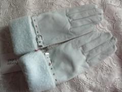 プライベートレーベルうす水色羊皮革手袋