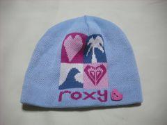 wb248 ROXY ロキシー ニット帽 ライトブルー
