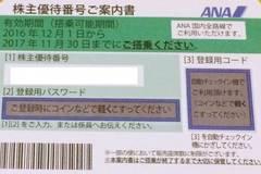 ★新券/送料込/ANA株主優待券/半額券★