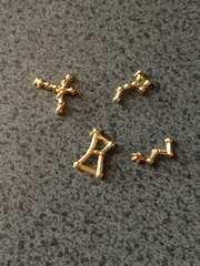 星座セット メタルパーツ デコ用 レジン ネイル 金 4種類 ko01