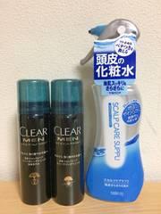 【新品】スカルプケア CLEAR MEN スパークリングトニック 3本セセット