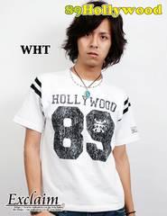 89HOLLYWOOD×ONE PIECEコラボフットボールTシャツ白M