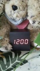 ウッディデジタル時計【送料込み】