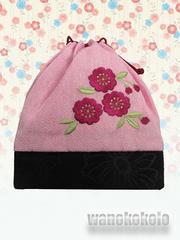 【和の志】卒業式に◇巾着◇ピンク系・桜柄刺繍入り◇TK-89