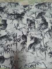 ☆新柄白×竹林に虎柄ダボシャツ110