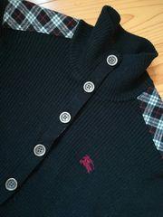 極美★バーバリーhorse刺繍肩ノバニットセーター