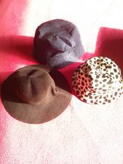 小さいサイズのお帽子 三枚組