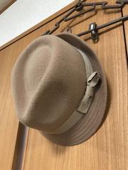 GU 茶色 帽子