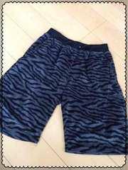 グレー×黒ゼブラ柄/ハーフパンツ/半ズボン/men's/Lサイズ