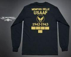 爆弾エアフォースモデル・USコットン長袖TシャツL・黒・新品