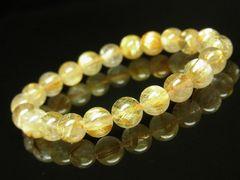 金運がアップする ゴールドタイチンルチルブレスレット 8mm天然石数珠