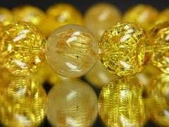 オススメ タイチンルチル×シトリンクラックブレスレット 12ミリ数珠パワーストーン