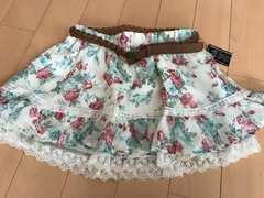 セシル★新品!ベルト付き花柄シフォンスカート