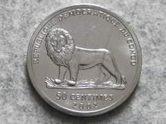 コンゴ民主共和国・50 Centimes (Verney L. Cameron)2002年