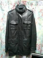 ライムRHYMEレザージャケットブラックM65ブラック
