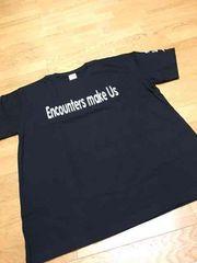 我逢人  デザインプリントTシャツ黒 サイズXL