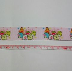 22mm巾 すみっコぐらし柄(桜)リボン1M