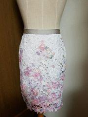 ☆JUSGLITTY☆フラワーレーススカート☆新品タグ付き☆