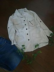 〇FREE'S MART〇リネンのシャツモッズジャケット*・゜