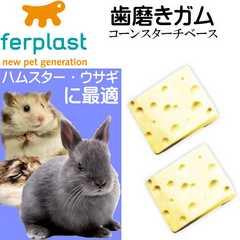 ウサギ・ハムスター用歯磨きガム真空パック チーズ型 Fa311