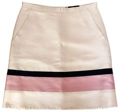 美品正規ルイヴィトンスカート36シルク100%薄ピンクブラッ